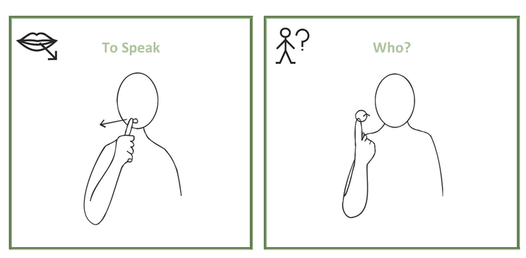 Sign of the month: To speak, who, to listen, mistake